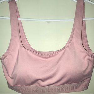 Pink Rose Double Scoop Lightly Lined Sports Bra
